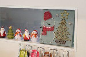 季節外れのまち針ストリングアート!クリスマスの装飾に、初雪の想い出に最適です。