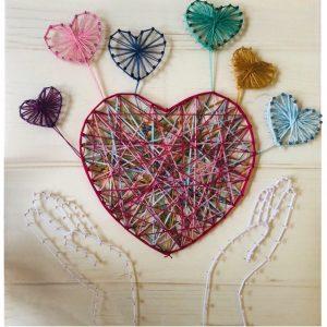 必ず喜ばれる結婚式のプレゼント!!まち針と糸を使うまち針ストリングアートのご紹介。part.2