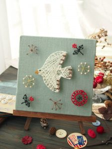 生協でも販売した、まち針ストリングアート「春告げ小鳥」がAmazonで販売中です!作り方も簡単に説明します。