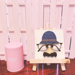 まち針ストリングアートで作るかわいい眼鏡置き場💛女子力アップアイテム間違いなし!!