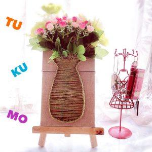 100均の花でもこんなに映える!手芸の秋に最適なまち針ストリングアートで作る花瓶のレシピを公開!