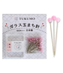 『TUKUMO』のこだわり!!ガラス玉まち針にはTUKUMOのブランドストーリーが込められています。