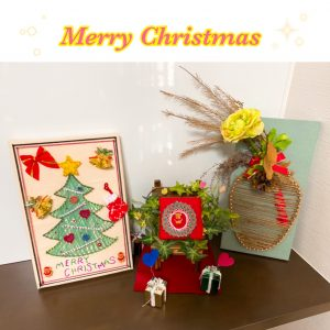 【おしゃれ・かわいい】まち針と糸で簡単に作れるクリスマスインテリア!!