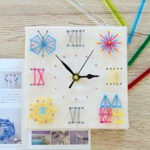 【北欧時計】おうちの中のくつろぎ空間に最適なまち針ストリングアート「北欧時計~Lepo~」のご紹介